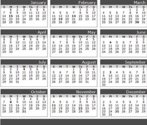 عدد أيام اشهر السنة الميلادية الروشن العربي